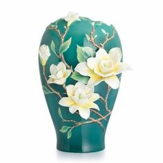Yellow Magnolia large vase - Designer Gallery Collection Limited Edition 2,000