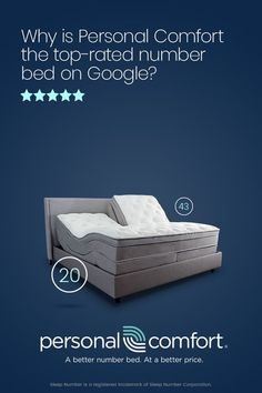 Personal Comfort - The Highest Rated Number Bed on Google! Compare to Sleep Number and Save up to 60% today! Starts at $499.