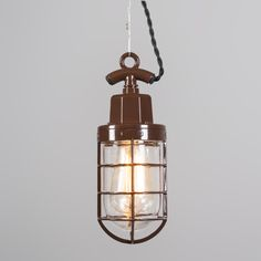 Lámpara colgante PORT marrón #iluminacion #decoracion #interiorismo