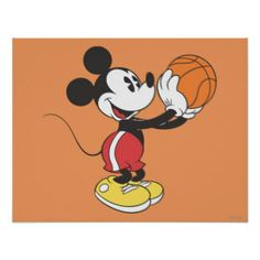 Mickey Mouse Basketball Player