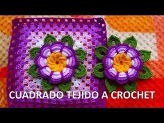 Crochet Squares, Crochet Granny, Crochet Diy, Crochet Hats, Yarn Crafts, Diy And Crafts, Embroidery Patterns, Crochet Patterns, Flower Chart