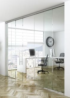 Solo Vetro: Concealed sliding elements integrated into the aluminium sliding tracks Sliding Door Systems, Sliding Glass Door, Sliding Doors, Glass Doors, Door Numbers, Double Doors, Architecture, Decoration, Studios