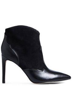 0e90614b4 Sam Edelman Pointed-Toe Leather Ankle Boots Short Black Boots