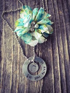 Get Your Shine On, Custom Necklace, Hand Stamped, Southern Style Gift, Mason Jar, Camo, Country Girl, - pinned by pin4etsy.com