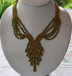 Old Gold Necklace Pattern | Bead-Patterns.com