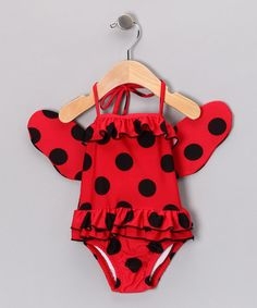 Adorable Swim suit!! Lady One-Piece & Wings - Infant, Toddler & Girls by Teeny Wingkini on #zulily today!