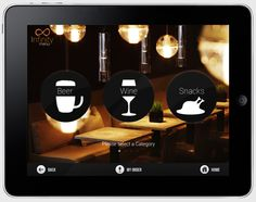 Infinity Menu App for iPad by Barjinder Singh, via Behance