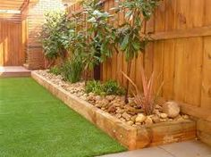 wooden garden edging ideas - Google Search