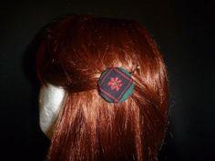 Tartan & Poinsettia Print Hair Pins - Top End Millinery
