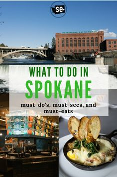 Things to do in Spokane, Washington. Winter activities, historic homes and neighborhoods, downtown restaurants, hikes for the family, and other fun attractions!  This article has so many great tips about the best things to do in Spokane! Pinning so I can save it for later. #MeetinSpokane #Spokane #SpokaneFalls #SpokaneRiver #GonzagaUniversity Spokane Falls, Spokane River, Spokane Washington, Washington State, Spokane Restaurants, Post Falls Idaho, Washington Things To Do, Places To Travel, Places To Go