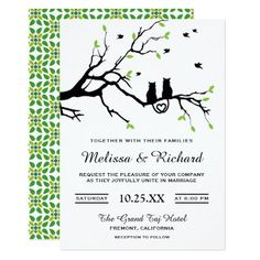 Shop Romantic Cats Wedding Invitations created by ShabzDesigns. Personalize it with photos & text or purchase as is! Classy Wedding Invitations, Wedding Invitation Suite, Bridal Shower Invitations, Custom Invitations, Wedding Stationery, Cat Wedding, Wedding Couples, Wedding Shoes, Wedding Ideas