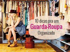 Organizando o guarda-roupa.