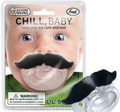 Baby Mustache Pacifier hahaha
