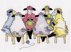 This greeting card design from knitbaahpurl offers a new take on the sheep yarn exchange. Printed on deckled-edged art card paper, the greeting is cheeky and elegant with the charm of the hand drawn illustration. Its 5 x 7 size makes it easy to frame. Knitting Room, Knitting Humor, Crochet Humor, Loom Knitting, Knitting Projects, Knitting Patterns, Sewing Projects, Sheep Cards, Foto Picture