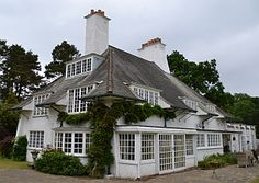 Voysey 1894:  LOWICKS.  Sandy Lane, Tilford, near Frensham,   Surrey.   For E. J. Horniman. More pins about this further down.