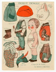 76.2956: Dolly Dingle | paper doll | Paper Dolls | Dolls | National Museum of Play Online Collections | The Strong