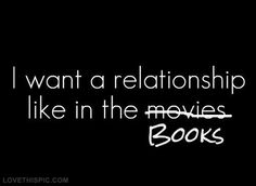 I want a relationship like in the books - authors rock