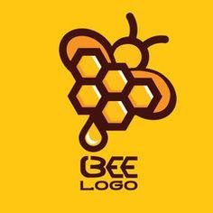 BEE LOGO 7 Beehive Design, Bee Design, Logo Design, Bee Hives Boxes, Bee Icon, Honey Bottles, Honey Logo, Bee Pictures, Honey Label