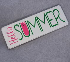 Rustic Shabby Chic Hello Summer Wood Sign, Farmhouse Chic, Watermelon
