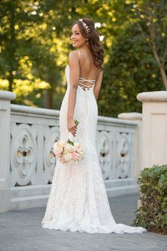Boho Wedding Dress Style Boho Wedding Dress with floral accents by Stella York. Floral lace makes a statement in this boho wedding dress from Stella York. Backless Mermaid Wedding Dresses, Wedding Dresses Plus Size, Elegant Wedding Dress, Bridal Dresses, Stella York Wedding Gowns, Stella York Bridal, Glamour, Queen, Bridal Collection