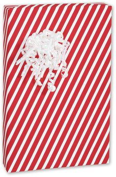 Holiday Gift Wrap - Candy Stripes Red Gift Wrap, 30' x 100' (1 roll) - BOWS-C-CSTR * Check this awesome product by going to the link at the image.