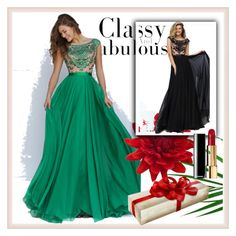 """""""Blackandgreen"""" by en-li ❤ liked on Polyvore featuring Sherri Hill and homecomingqueendress"""