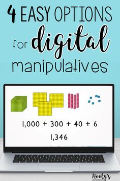With the transition to distance learning and blended learning instruction, teachers are looking for ways to teach math conceptually using manipulatives. The good news is each student doesn't need their own set of manipluatives. There are 4 options for digital manipulatives that are reasonably priced and easy to use. Love Math, Fun Math, Math 2, Teaching Math, Teaching Resources, Teaching Tools, 1st Grade Math, Grade 1, Math Manipulatives