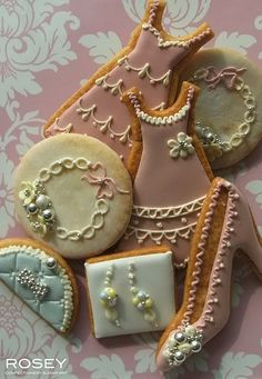 Wedding cookies with bling