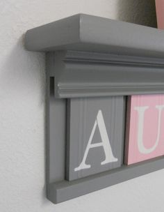 Gray and Pink  Pastel Pink Baby Girl Nursery Decor by NelsonsGifts, $43.00