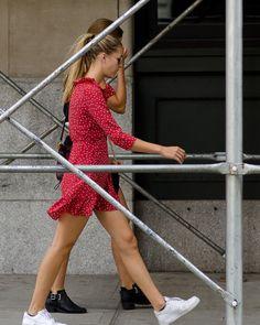 On the Street - Spring Street, New York New York, Dresses For Work, Street Style, Spring, Sweaters, Fashion, Moda, New York City, Urban Style
