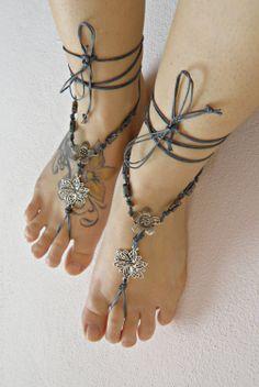 HiPPiE BAREFOOT sandals barefoot sandal hippie barefoot by ZAPrix, $24.00