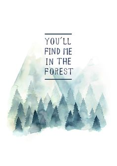 You´ll find me in the forest