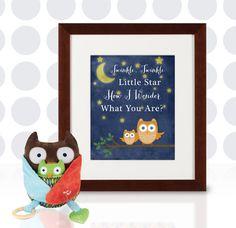 Night Owls Twinkle Twinkle Customizable Nursery by LOlsonDesigns, $12.50