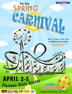 The Pee Dee Spring Carnival returns to Florence Civic Center in South Carolina April 2-5, 2015
