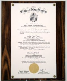 Solid Walnut Proclamation Plaque for Legal Size Documents
