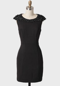 Erica Dress By Darling UK 138.99 at shopruche.com. A luxurious bevy of glossy black beads and rich black embroidery adorns the collar of this structured black dress. Finished with a hidden side zipper, this fully lined dress is a wonderful evening wear addition to any wardrobe.58% Rayon, 40% Polyester, 2%...