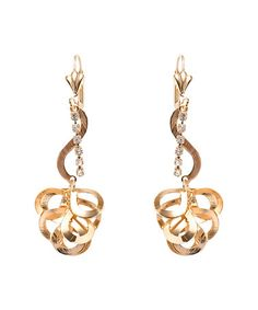 Look what I found on #zulily! Swarovski® Crystal & Gold Abstract Drop Earrings #zulilyfinds