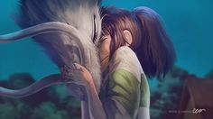 Extremely beautiful, Chihiro and Haku. This guy is surely talented. love it.