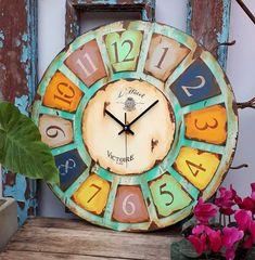 Clock Craft, Wooden Cutouts, Diy Resin Art, Magnolia, Diy And Crafts, Shabby Chic, Wall Decor, Scrapbook, Mandala