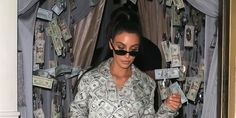 """You know how these celebrities are,they can basically do everything to be unique and classic fashion wise. We've got Cardi B who dressed like the """"emoji red dancer"""" for a fashion … Classic Style, Classic Fashion, Cardi B, Kim Kardashian, Round Sunglasses, Men Casual, Celebrities, Mens Tops, How To Wear"""