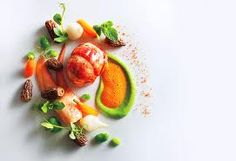 Eleven Madison Park's lobster with pea and carrot purée
