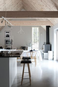 my scandinavian home: A Modern House on Sweden's West Coast… Swedish House, Cottage Kitchens, Home And Deco, Scandinavian Home, Open Plan Living, Home Renovation, Interior Inspiration, Home And Living, Living Room Furniture