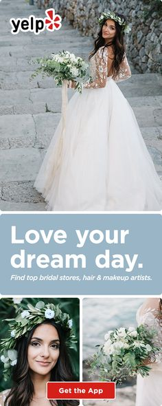 Planning your perfect wedding with Yelp is easy. Download the Yelp app to find your wedding dress, hair and makeup artist, and anything else you need for your perfect day.