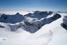 Big Landscape, Small Person by Christoph Oberschneider on Ski Touring, My Images, Mount Everest, Skiing, My Photos, Explore, Adventure, Mountains, Photo And Video