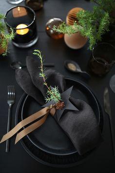 Easter Table Settings, Christmas Table Settings, Christmas Tablescapes, Holiday Tables, Christmas Decorations, Setting Table, Parties Decorations, Dark Christmas, Simple Christmas