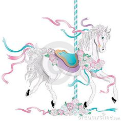 carousel horse drawings and paintings - Google Search