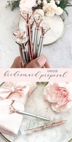 Bridesmaid Proposal Gift Unique Bridesmaid Gifts Cheap Bridesmaid Gift on a Budget Will You B. Bridesmaid Proposal Gift Unique Bridesmaid Gifts Cheap Bridesmaid Gift on a Budget Will You Be My Bridesmaid Gift - Diamond Pens, Bridesmaid Gifts From Bride, Will You Be My Bridesmaid Gifts, Bridesmaid Gift Boxes, Bridesmaid Proposal Gifts, Bride Gifts, Budget Bridesmaid Gifts, Inexpensive Bridal Shower Gifts, Inexpensive Bridesmaid Gifts, Gifts For Wedding Party