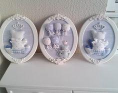 Trio de quadros ursinho
