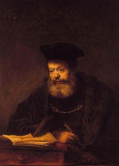 Bildnis eines älteren Gelehrten (auch bekannt als der Vater der jüdischen Braut), Rembrandt van Rijn