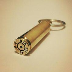 Bullet Shell Key Chain .308 Keychain 22-250 by TheGoToGiftGirl